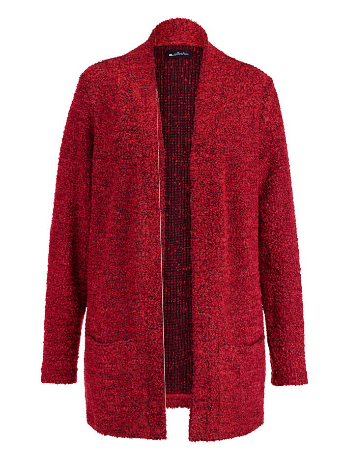 m. collection Jacke in Bouclé-Qualität, Rot
