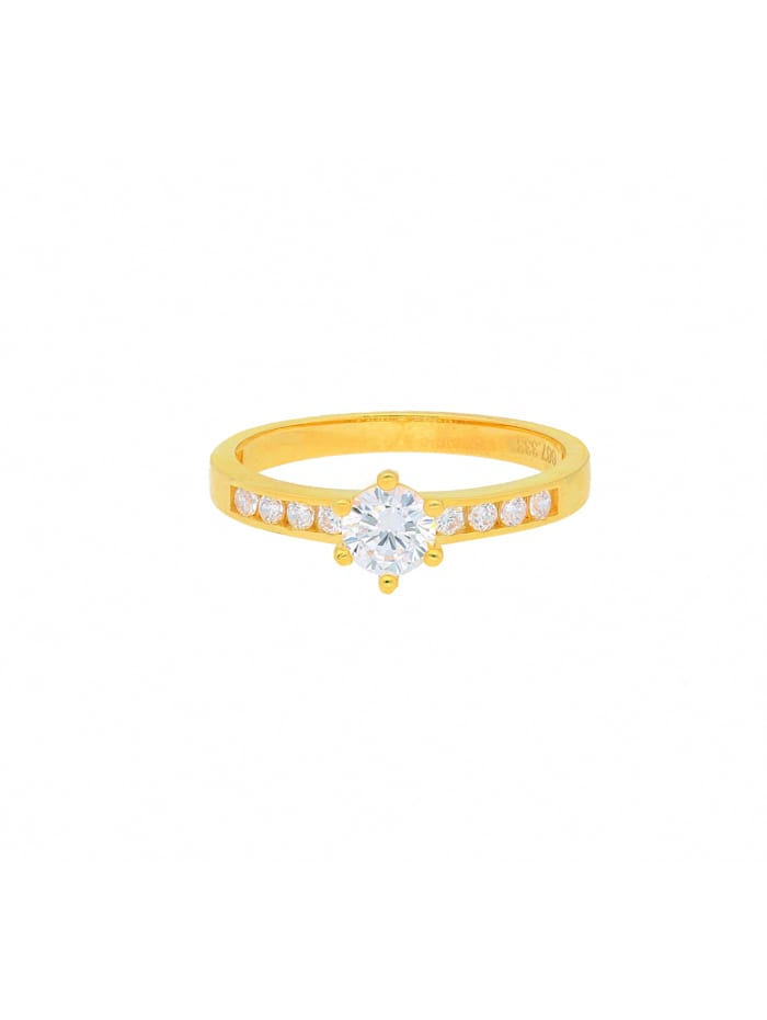 1001 Diamonds Damen Goldschmuck 333 Gold Ring mit Zirkonia, gold