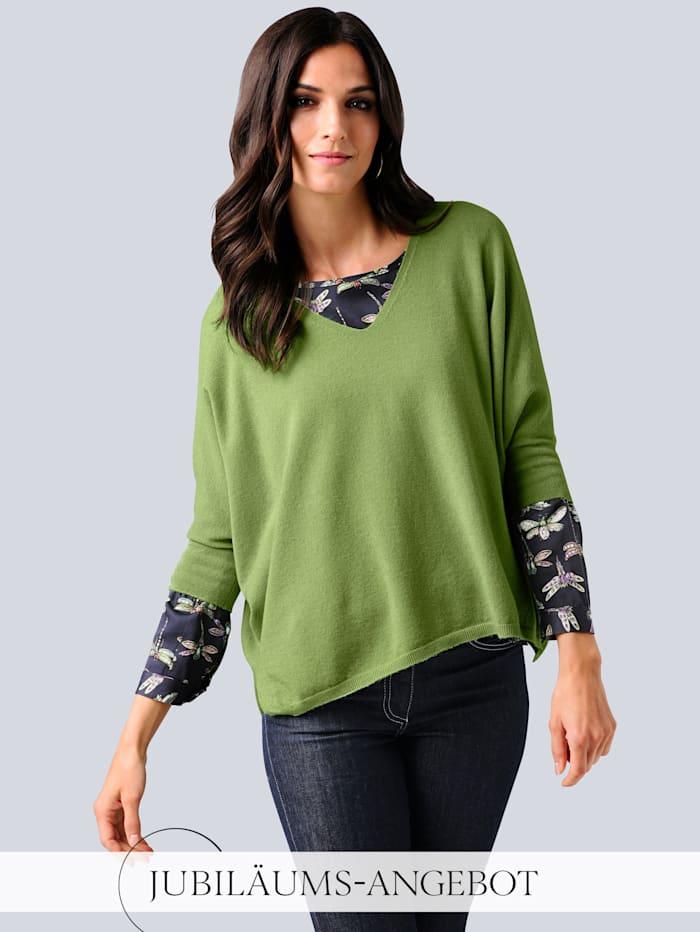 Alba Moda Pullover in lässiger Oversized-Form, Grün
