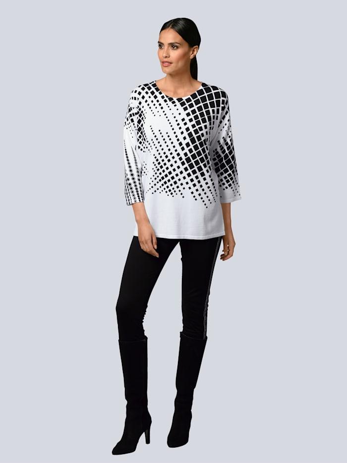 Pullover mit partiellem Grafik-Print
