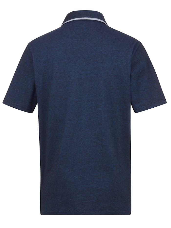 Poloshirt in zweifarbiger Piqué-Qualität