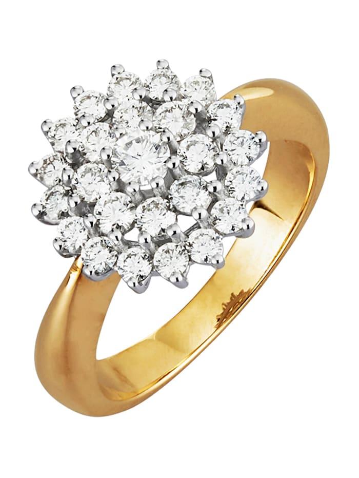Diemer Diamant Damenring mit 25 Brillanten, Weiß