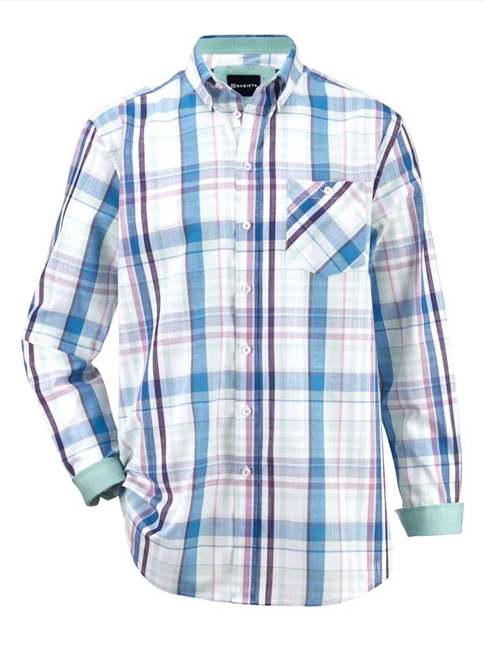 BABISTA Overhemd in zomerse kleuren, Blauw/Mint