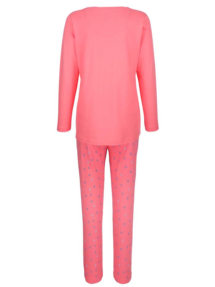Pyjamas med texttryck