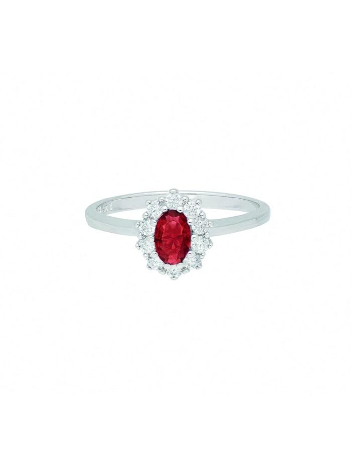1001 Diamonds Damen Silberschmuck 925 Silber Ring mit Zirkonia, bunt