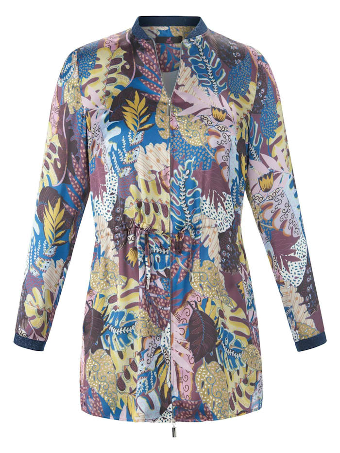 Emilia Lay Langarmbluse Blusenjacke, lila/multicolor