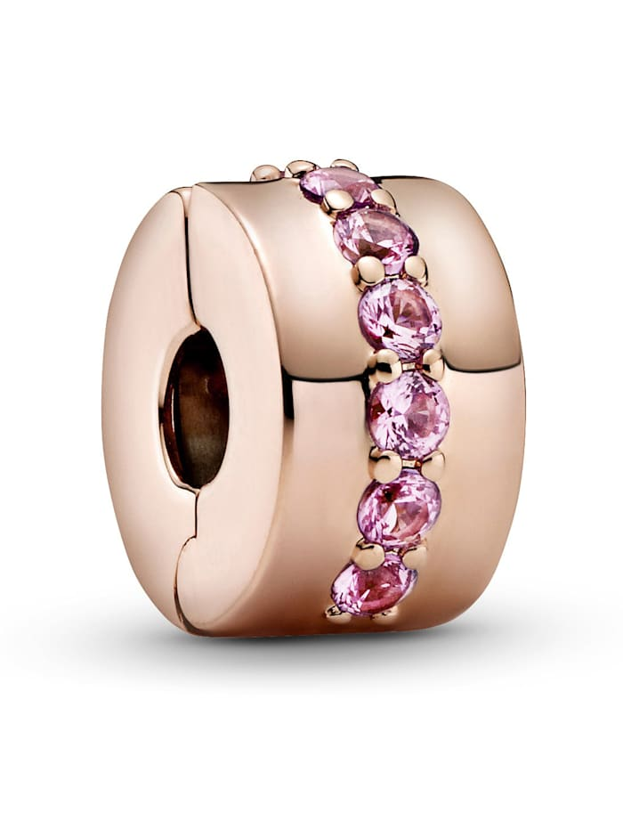 Pandora Clip-Charm - Rosafarbene funkelnde Linie - 781972C01, Rosé