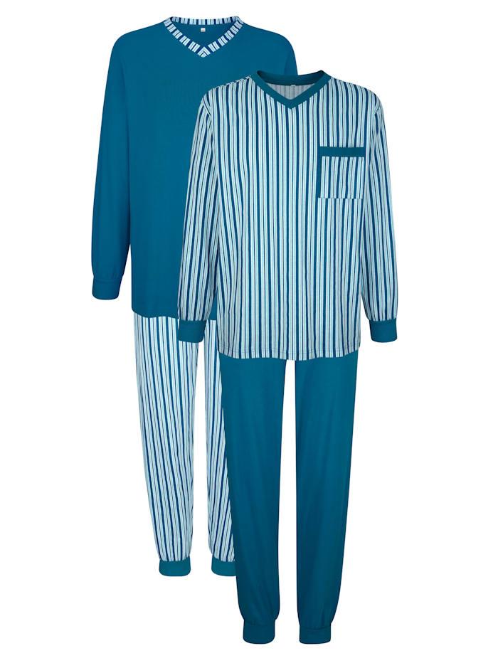 Roger Kent Pyjama's, Turquoise/Lichtblauw