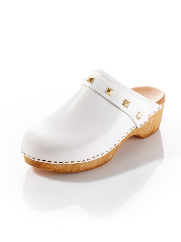 Alba Moda Clog, Weiß