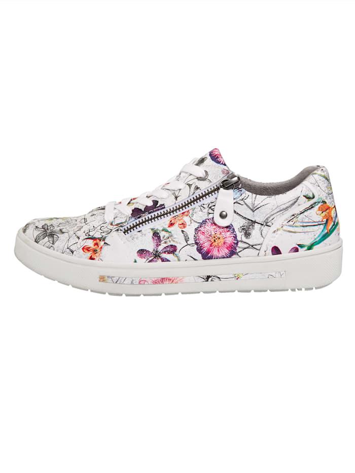 Šnurovacia obuv s kvetinovým dizajnom