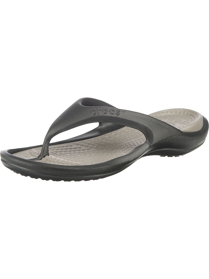Crocs Athens Zehentrenner, schwarz