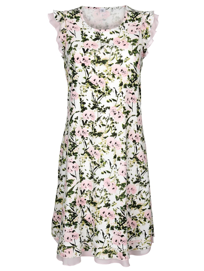 Night Dress with ruffled sleeves