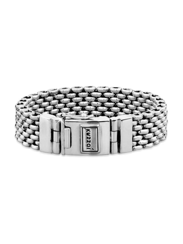 Kuzzoi Armband Herren Robust Kastenverschluss 925 Sterling Silber, Silber