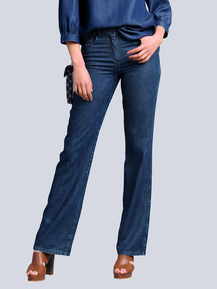 Alba Moda Hose mit modisch weitem Bein, Dark blue