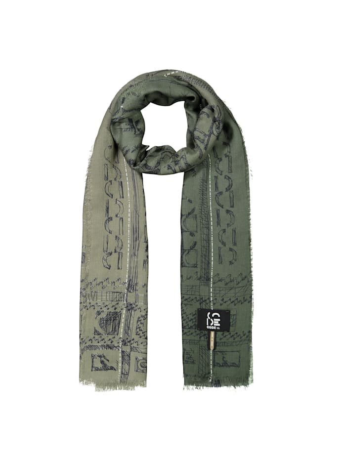 Codello Premium Schal aus Modal und Kaschmir - Made in Italy, Green