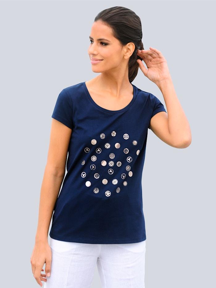 Alba Moda Strandshirt mit Motiv, Marineblau