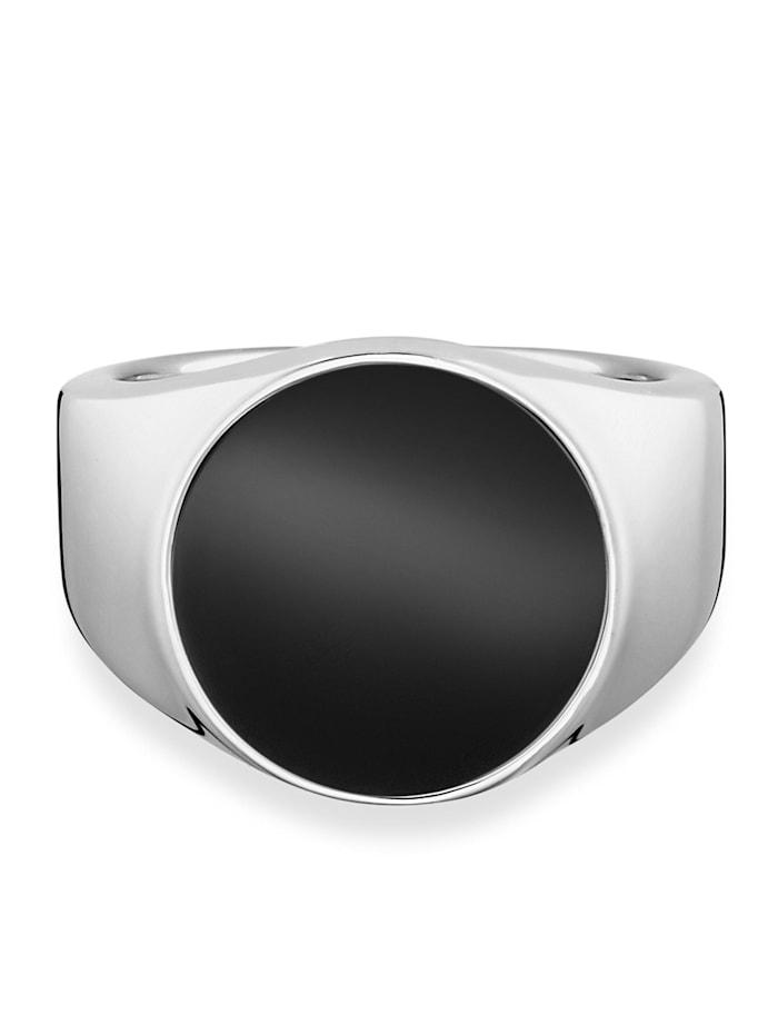 CAI Ring 925/- Sterling Silber Onyx schwarz Glänzend 2,50ct 925/- Sterling Silber, weiß