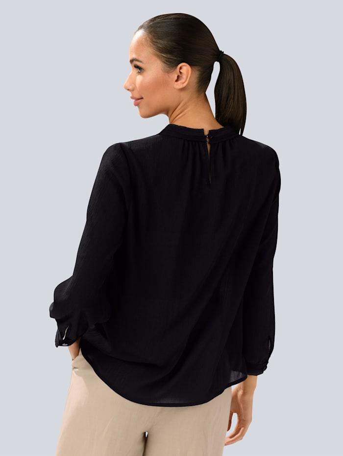 Bluse aus transparenter Ware