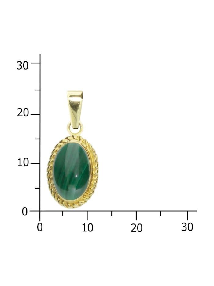 Anhänger - Julie - Gold 333/000 - Malachit