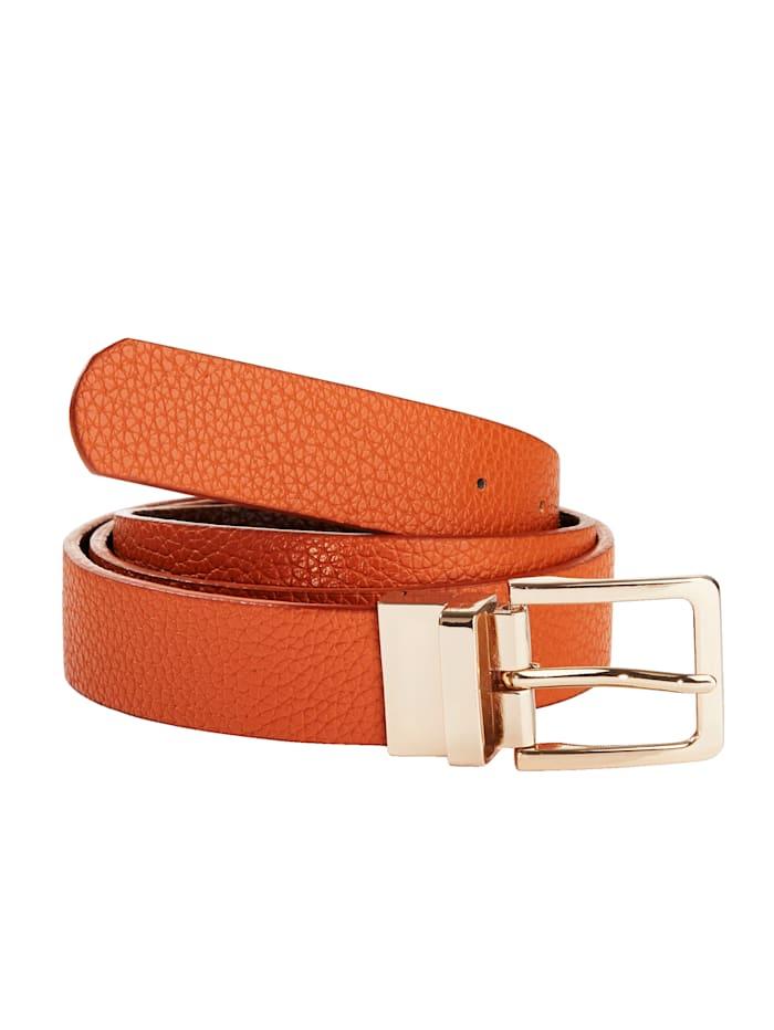 Reversible belt, Brown/Cognac