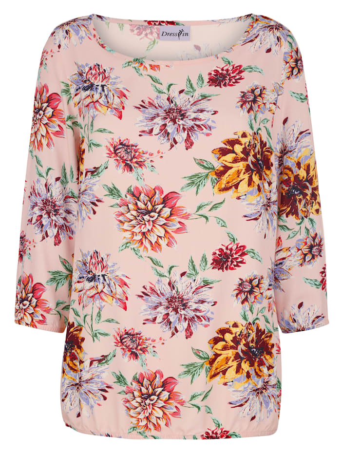 Dress In Bluse mit tollem Druck, Rosé