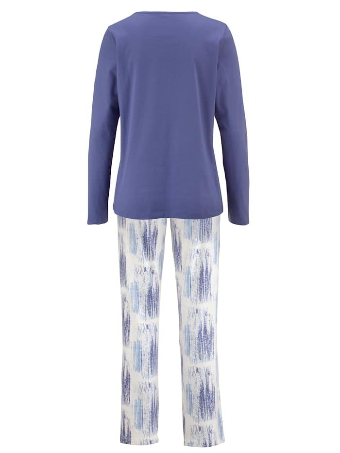 Schlafanzug mit dekorativem Ausschnitt