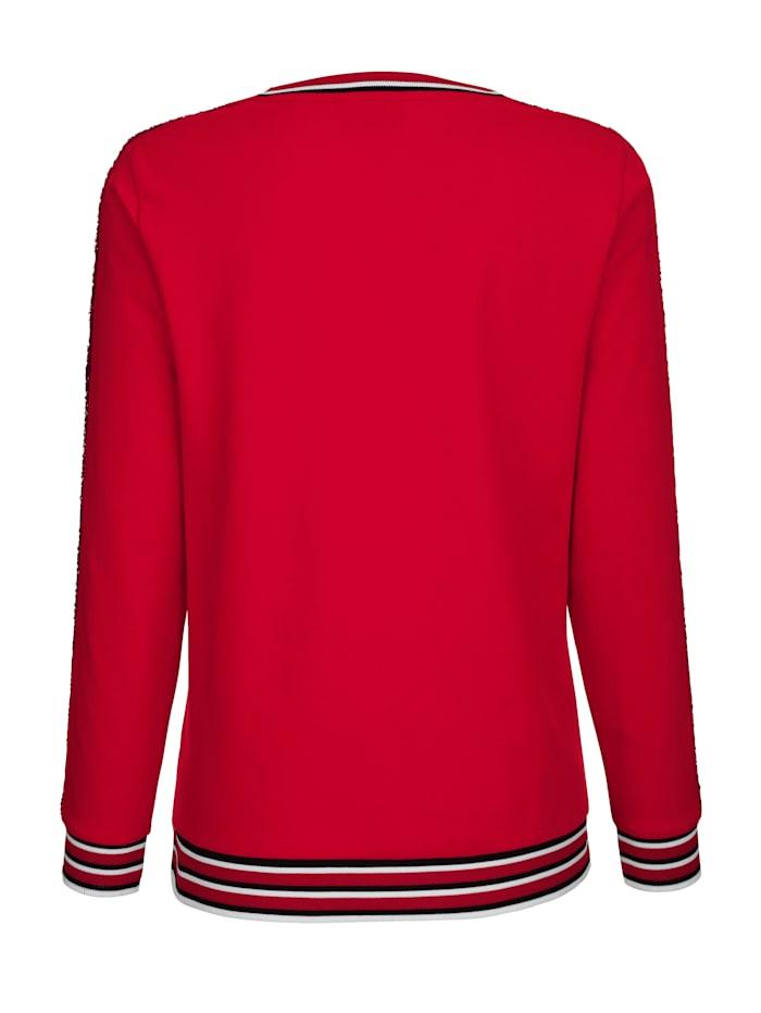 Sweatshirt mit kontrastfarbenen Bündchen