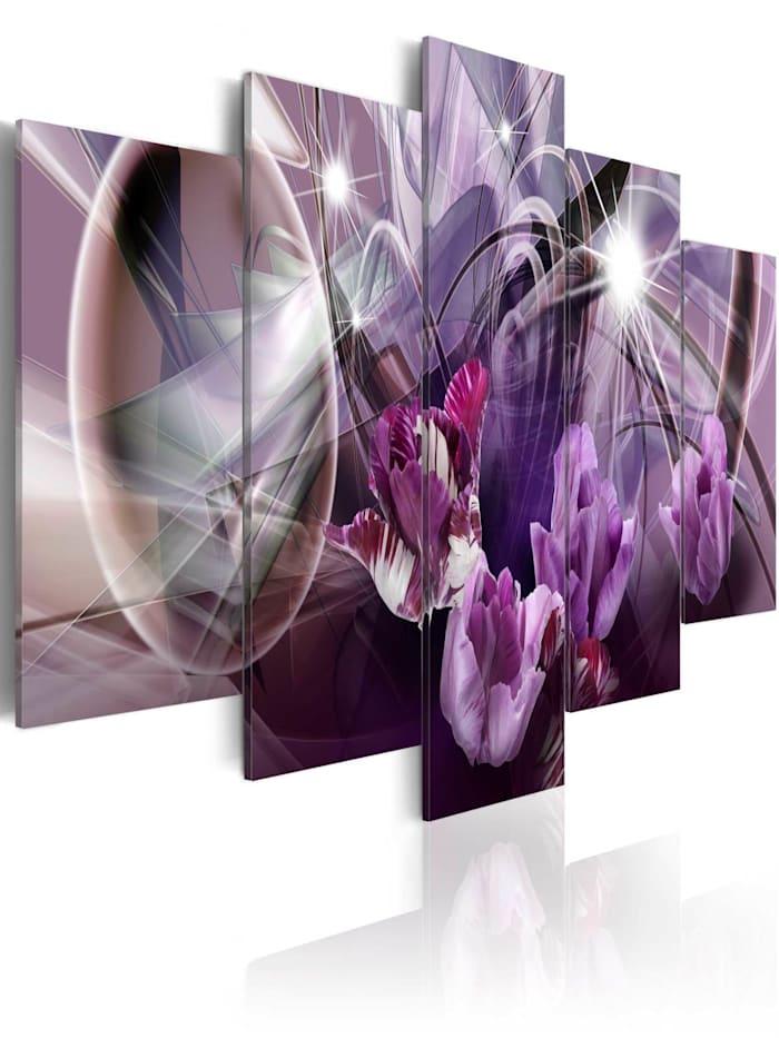 artgeist Wandbild Purple of tulips, Violett