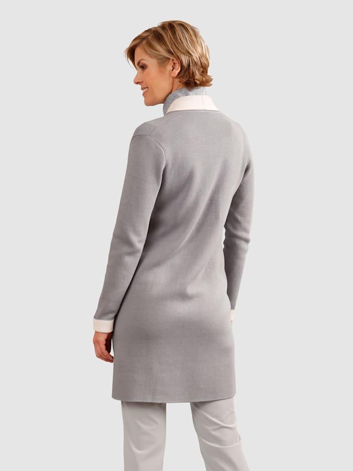 Vest in doubleface-look