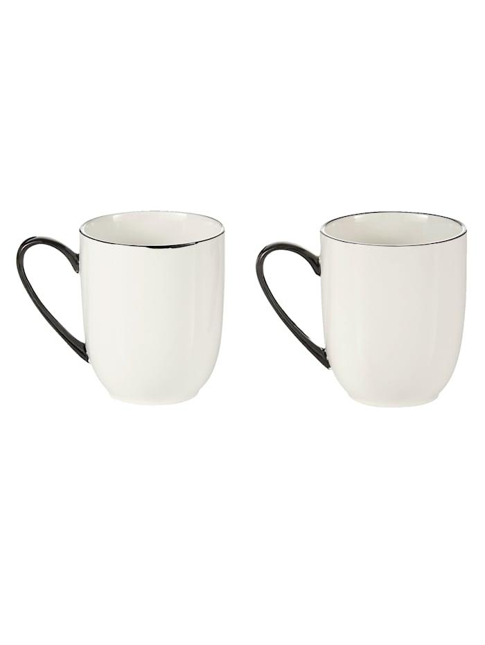 Lot de 2 tasses 'Scarabée' en céramique