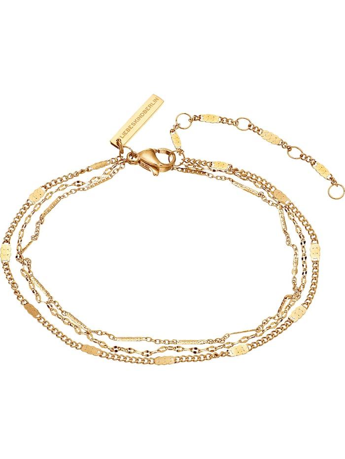 LIEBESKIND Berlin Liebeskind Damen-Armband Edelstahl, gelbgold