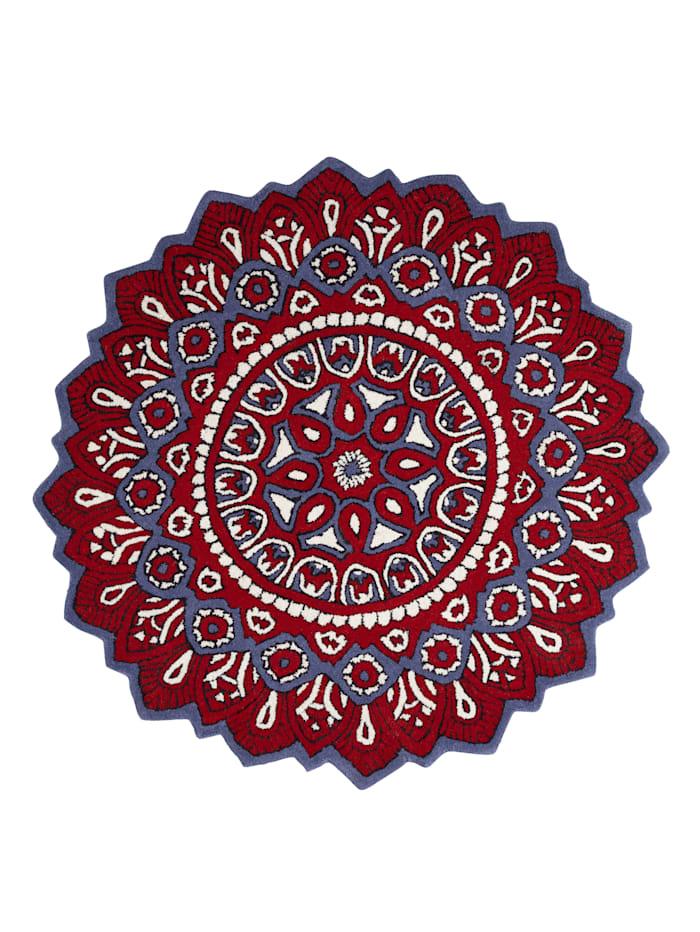 Webschatz Handtuftteppich 'Kala', Rot