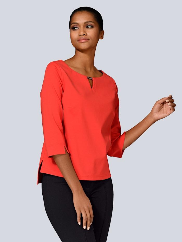 Alba Moda Shirt met accessoires aan de hals, Rood