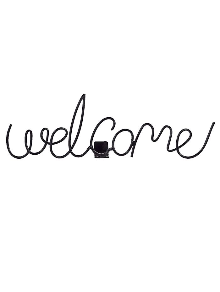 IMPRESSIONEN living Schriftzug Welcome, black