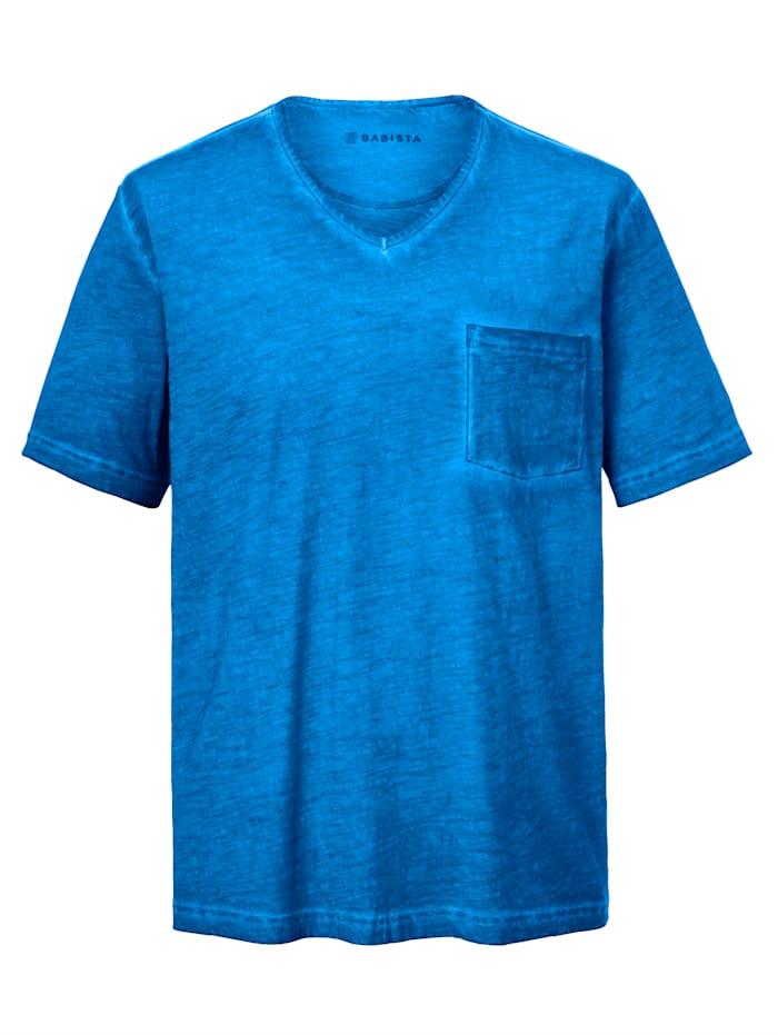 BABISTA T-shirt à effet usé, Bleu