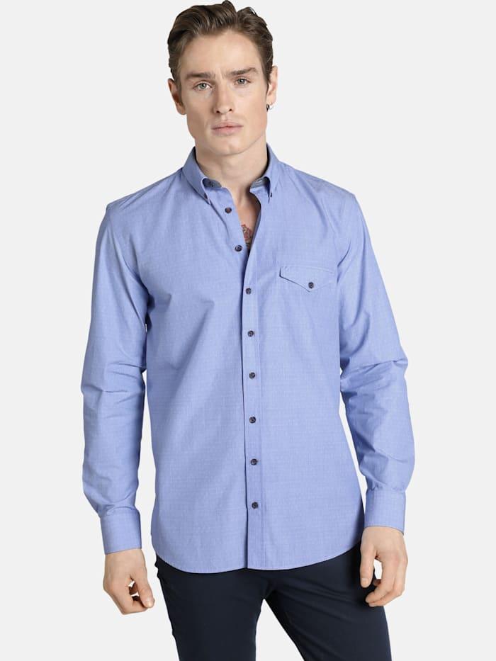 Shirtmaster Jacquardhemd lightbluedeluxe