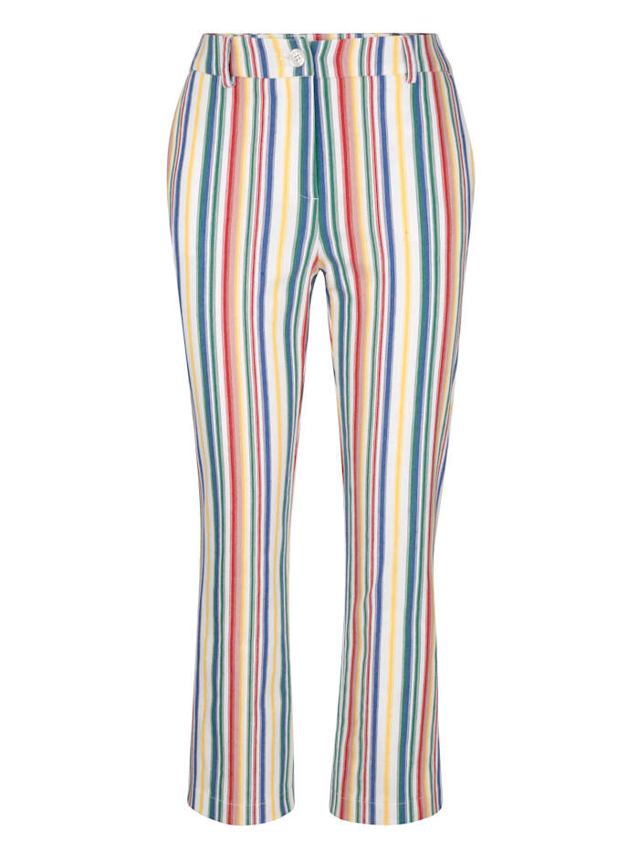 Cropped trousers in a striped design