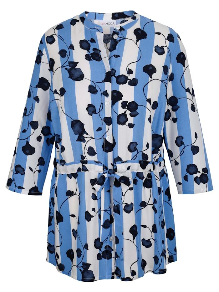 Bluse mit streckendem Muster