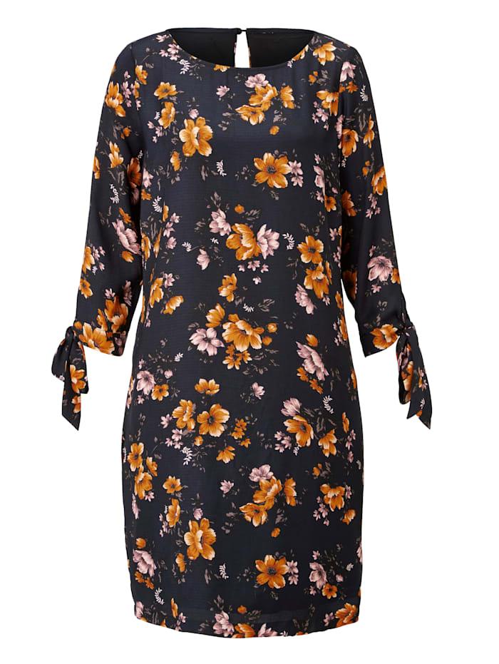 SIENNA Kleid mit floralem Druck, Marineblau