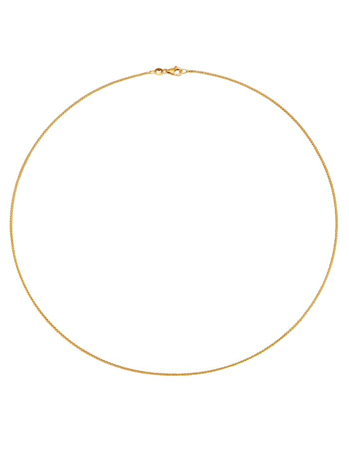 Zopfkette in Gelbgold 585