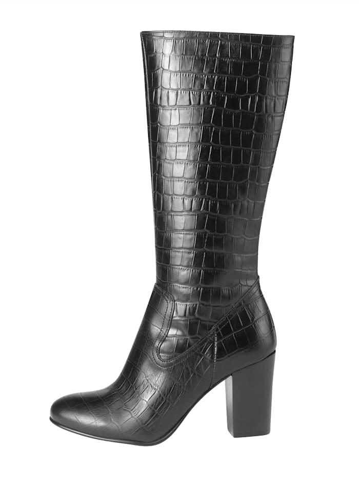 Stiefel in edler Kroko-Optik