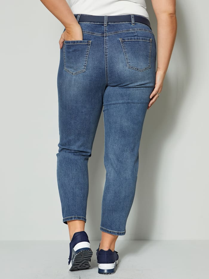 Jeans met gerecycled polyster