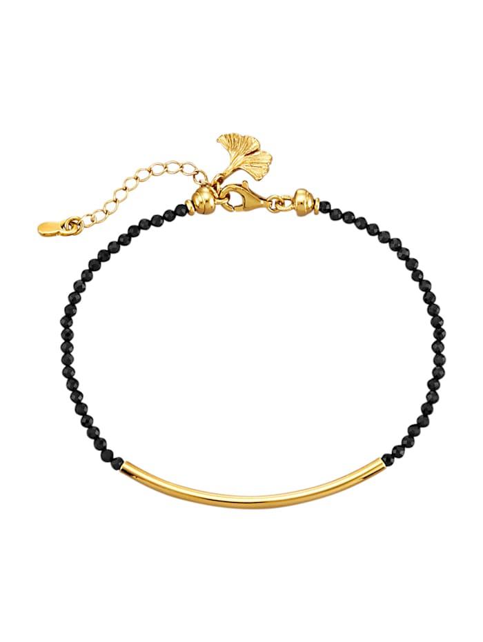 Armband med svarta spineller, Svart