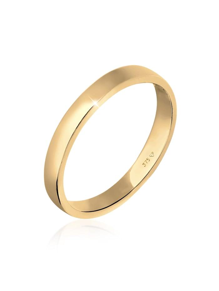 Elli Premium Ring Ehering Trauring Partnerring Basic 375 Gelbgold, Gold