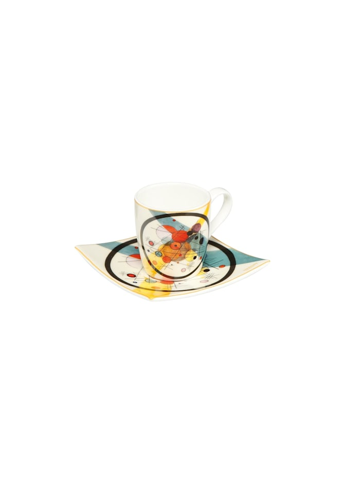Goebel Goebel Espressotasse Wassily Kandinsky - Kreise im Kreis, Kandinsky - Kreise