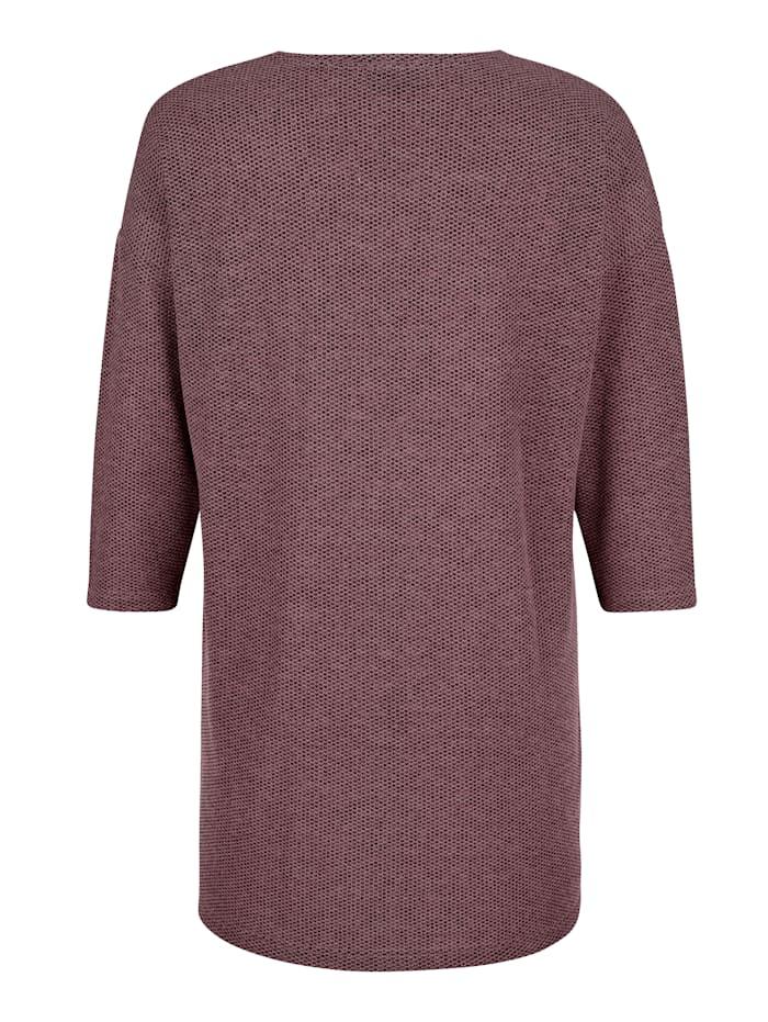 T-shirt en maille fine en maille chinée