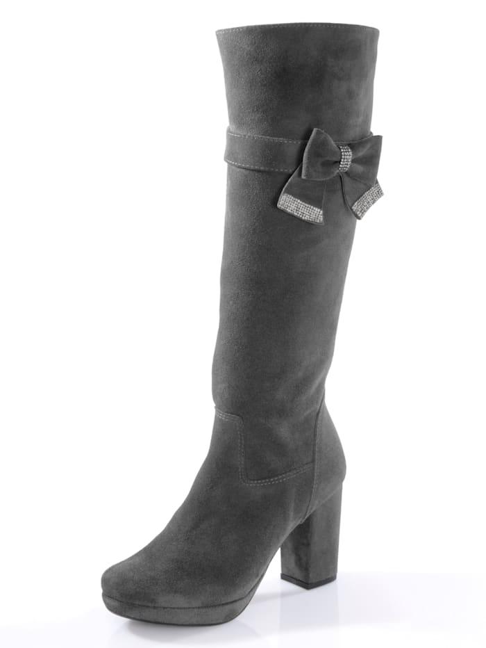 Stiefel aus geschmeidigem Ziegenveloursleder