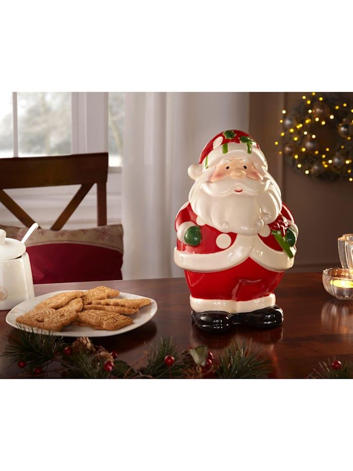 Kakeboks -Julenisse-, rød