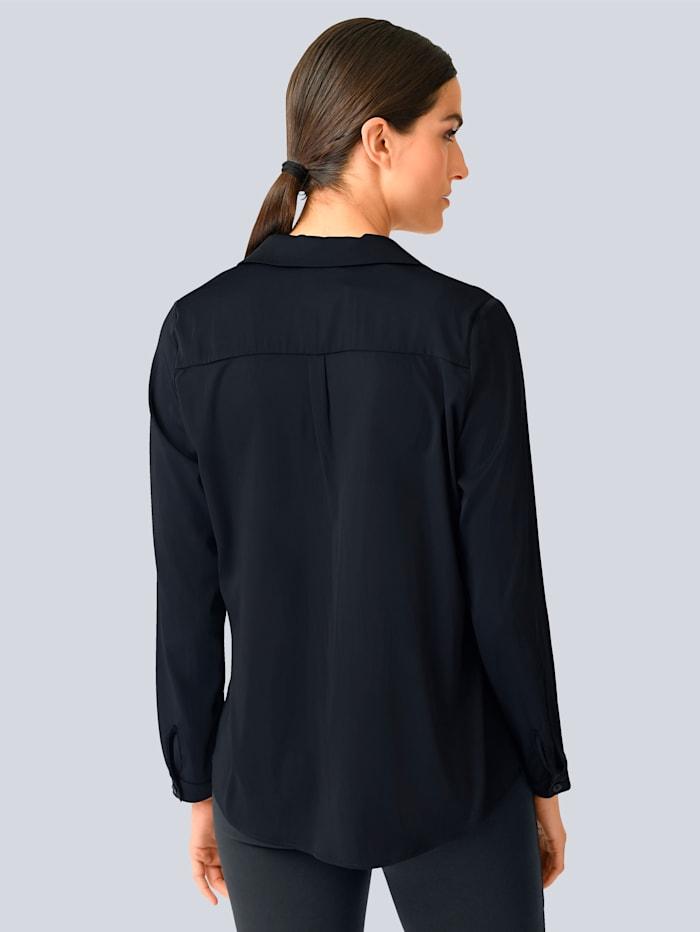 Bluse aus satinierter Ware