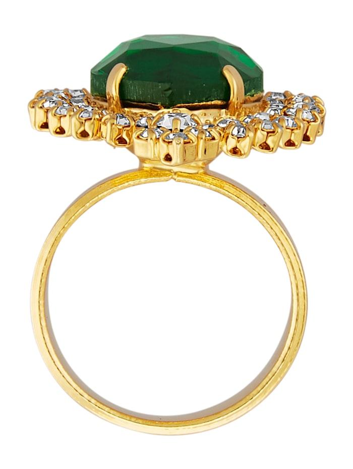 Dámský prsten v barvě žlutého zlata